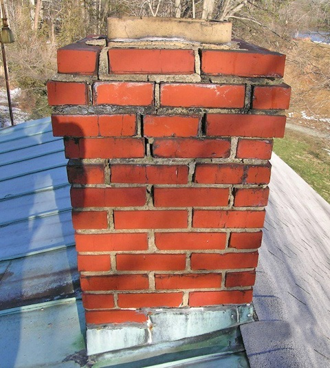 Chimney tuck pointing Akron and Canton Ohio